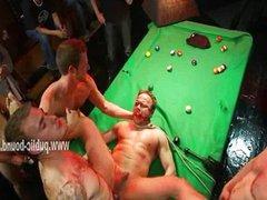 Hunk laying vidz on table  super among gay cocks