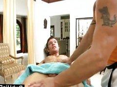 Hairy massage vidz guy loves  super straight meat