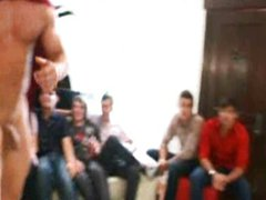 Guy have vidz fun with  super naked male stripper