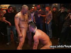 Huge dick vidz gay flogged  super in public bar