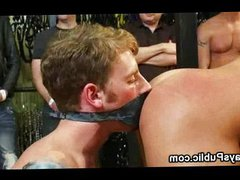 Gays gangbang vidz in bed  super in leather shop
