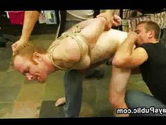 Tied up vidz gay gags  super on dicks in porn store