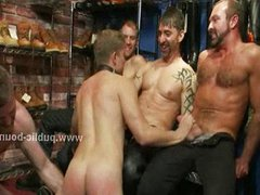 Worker caught vidz and bound  super by gay perverts