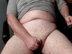 Chubby Shoots vidz A Big  super Cum Load