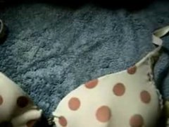 cum on vidz polka dot  super bra (no audio)