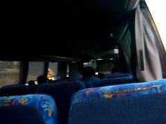 jerk off vidz in the  super bus