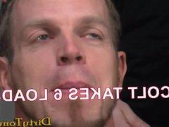 Tattooed Blond vidz Gets His  super Mouth Stuffed