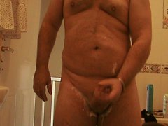 shaving my vidz cock then  super having a wank.....