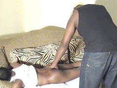 Sexy black vidz couple bang  super ass in living room
