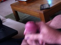 Stroking and vidz cumming a  super thick load