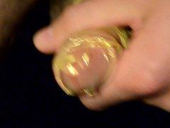 Big 3 vidz days load  super in Golden Condom cumshot