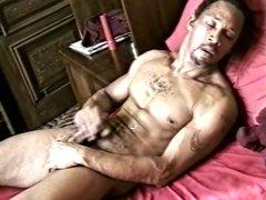 Ebony brother vidz waxing his  super own dick