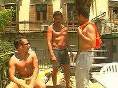 Gay men vidz in threesome  super riding fuck sticks