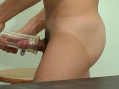 Medical student vidz plays with  super penis pump