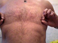 Playing with vidz my nipples