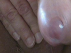 Close up vidz at slow  super hand job. Cum flows from Uncut Penis