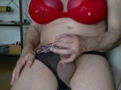 Wichsen in vidz Panties und  super Ballontitten
