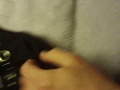 Black with vidz metal rings  super thong cumshot