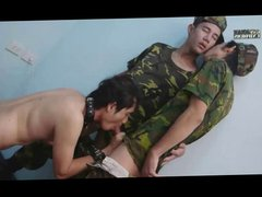 Military Twinks vidz In Threesome
