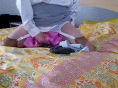 crossdressing pink vidz satin blouses  super shoot