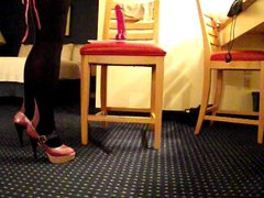 A quick vidz dildo ride  super in heels and stockings