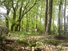 Nude in vidz Public -  super Walking in woods