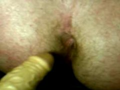 fucking my vidz asshole with  super dildo