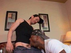 Interracial Gay vidz Blowjob