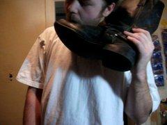 David Keller vidz licks boots