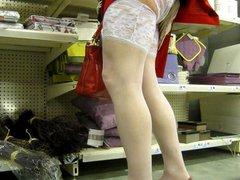 crossdresser in vidz the supermarket