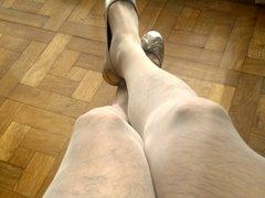 Cum in vidz my wife's  super sexy red heels