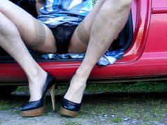 Crossdresser wanking, vidz getting caught  super again!