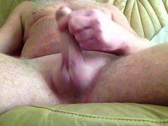 A saturday vidz wank after  super shaving my cock