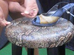Cumshot Heels vidz Nylon Footjob  super Stockings X31