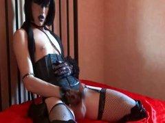 Sissy slave vidz Puppi handjob  super with cum