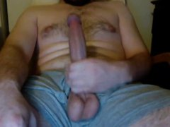 Huge white vidz cock stroke  super and teasing