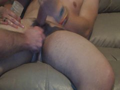 Big dicked vidz boy I  super know stops by again for a stroking.