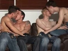Hot foursome vidz at a  super party