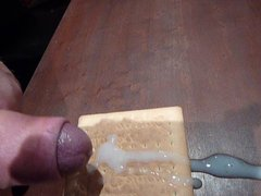 cum on vidz food big  super load on cookie