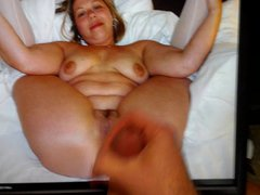 Cum tribute vidz for new  super favorite BBW MILF
