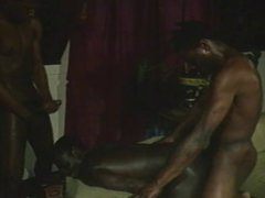 Black guy vidz sucks on  super massive black cock on the sofa