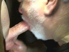 Beard dad vidz sucks cock