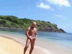bald bear vidz wanks at  super the beach