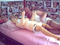 A prematurate vidz sissy fucks  super her doll