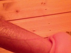 Mit Fleshlight vidz in der  super Sauna