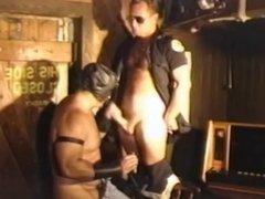 Old cop vidz & leather  super bear in mask