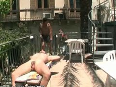 Good looking vidz gay gets  super double fucked and jizzed outdoors