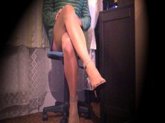 Webcam cum vidz in stockings