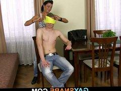 Strong man vidz drills his  super tight virgin asshole