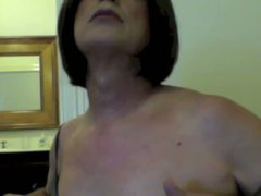 Sissy girl vidz plays with  super her titties